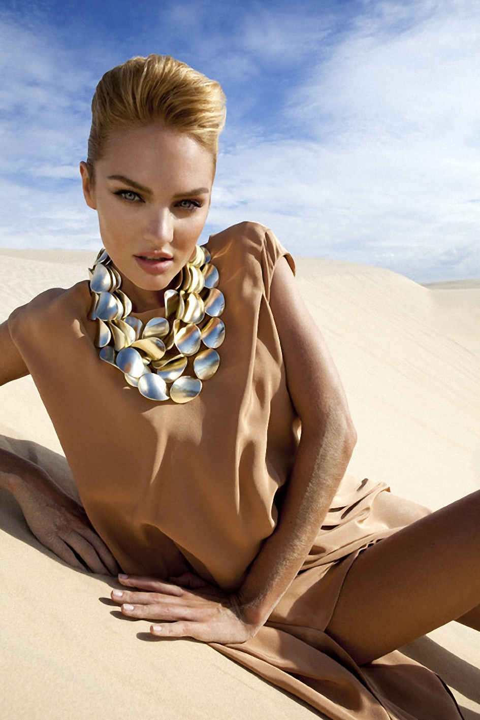 CANDICE SWANEPOEL on the Set of a Photoshooting for Vogue