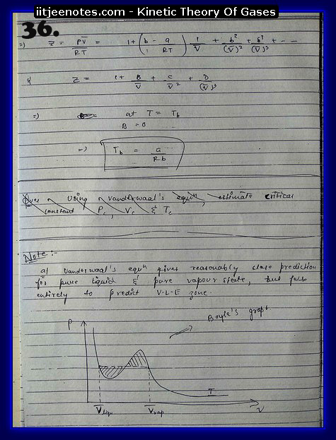 Kinetic Theory Of Gases Notes IITJEE6