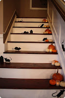decoracion de halloween para escaleras