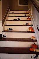 decoracion de halloween para escaleras