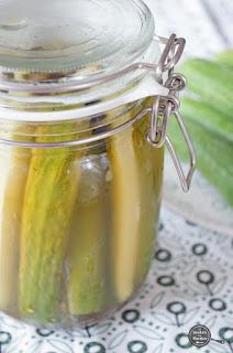 Komkommer in het zuur