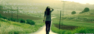 Facebook timeline cover of wise girls quote.