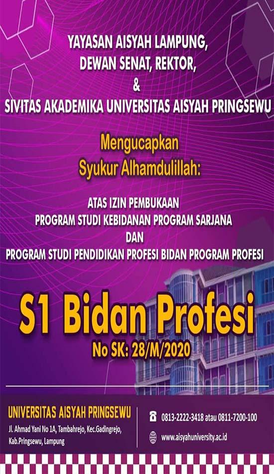Program Sarjana S1 Bidan Profesi Pertama di Lampung flayer