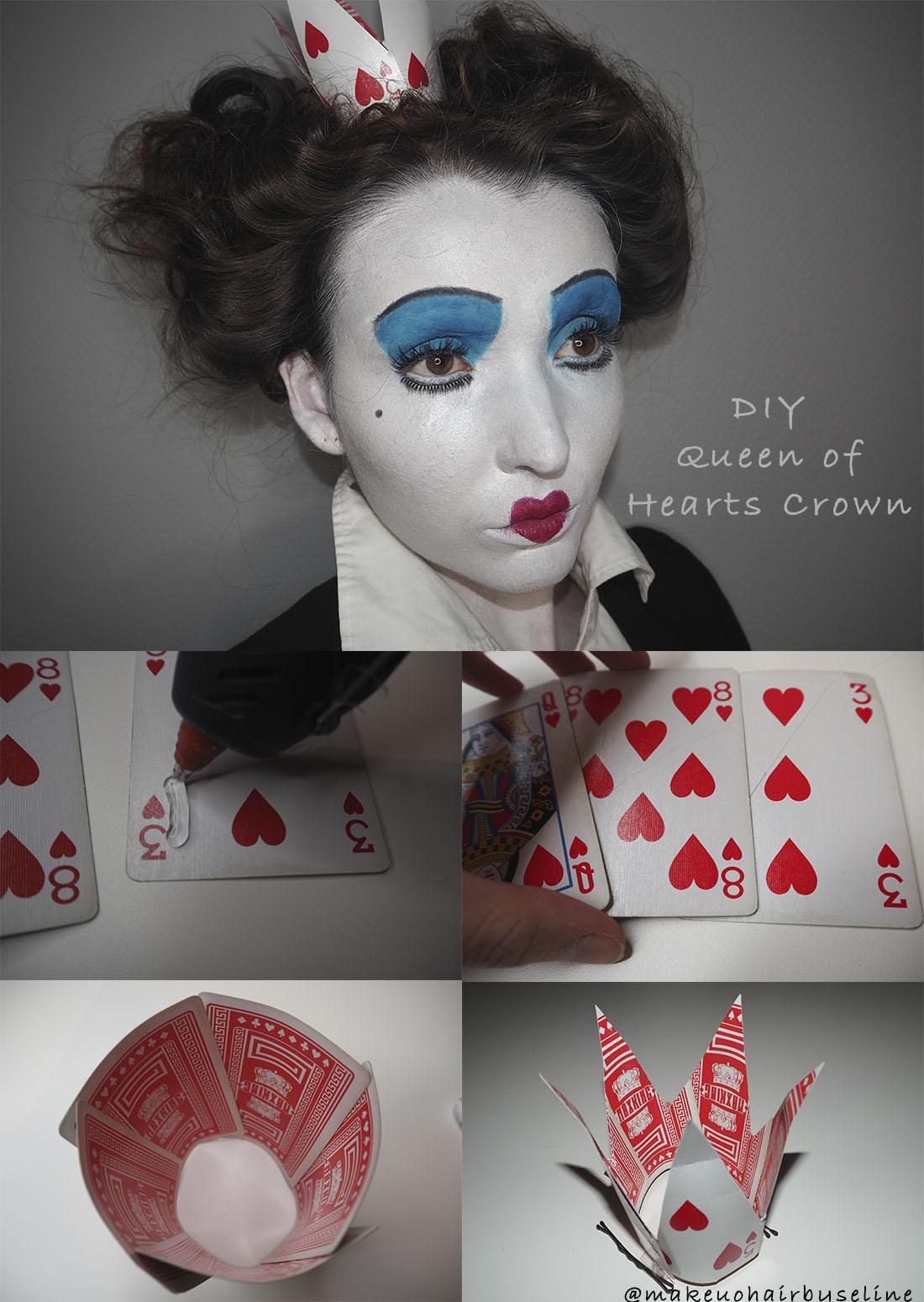 Diy Queen Of Heart Crown Makeuphairbyseline