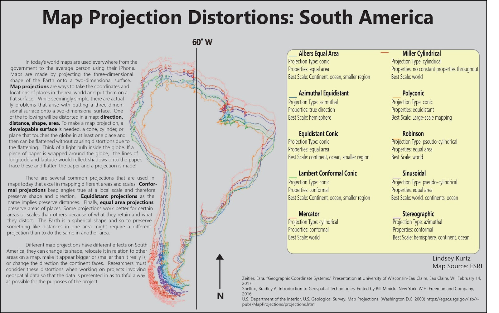 map of projections of south america