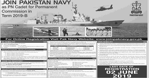 Pakistan Navy Jobs 2019 Apply Now