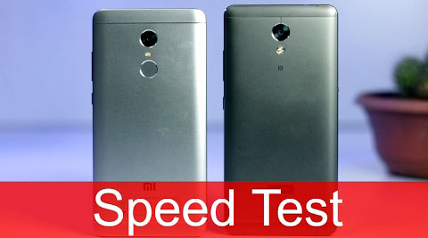 Redmi Note 4 vs Lenovo P2 Speed test