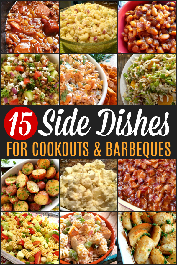 15 Side Dishes PERFECT for your summer cookout or backyard barbeque! From cool and creamy macaroni salad to crock pot cowboy beans, this collection has every recipe you need for summer! #cookout #sidedish #barbecue #barbeque #side #picnic