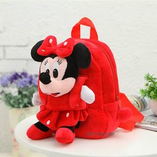 Grosir Tas Boneka Karakter Minimouse Merah