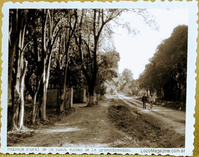 Paisaje rural de la zona antes de la urbanización