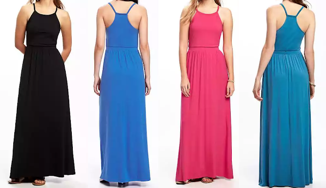 Old Navy High Neck Maxi Dress $19 (reg $40)