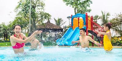 Cụm bể bơi chất lượng ngoài trời của Vinhomes Riverside