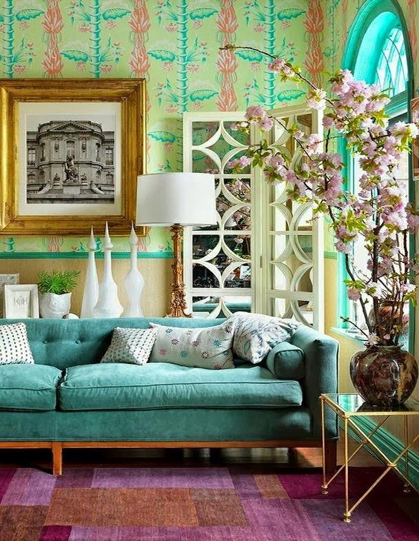 ...joy of nesting: Cheery Aqua in a Spring Inspired Room