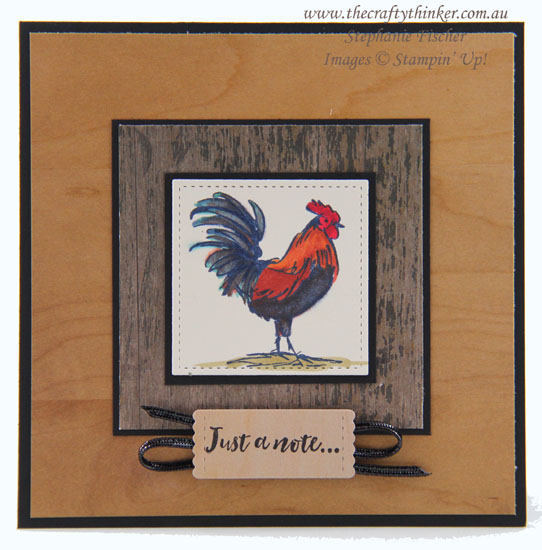#thecraftythinker  #masculinecard  #hometoroost  #stampinup  #cardmaking  #saleabration2019 , Masculine Card, Home To Roost, Sale-A-Bration 2019, Masking, Stampin' Up Australia Demonstrator, Stephanie Fischer, Sydney NSW