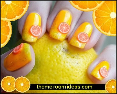 Fruity Nail Art Fimo Sheets Slices 3D Decoration  nail art - fruit nail designs - fruit nail art -  fruit slice nail art design ideas - fruit nail designs - fruits vegetables food nail decal designs - cute nails - nail art design ideas - themed nail decals - cute nail decals - cute nail stickers -