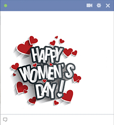 Happy Women's Day Facebook Sticker