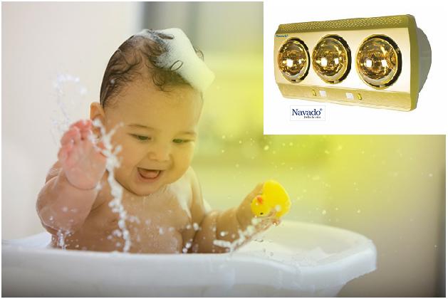 Những mẫu đèn sưởi phòng tắm hồng ngoại và công dụng của nó