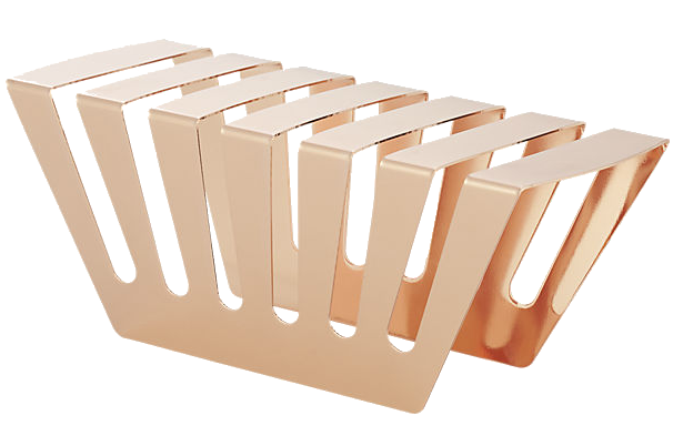 Everything's coming up rose gold: CB2's rose gold letter holder