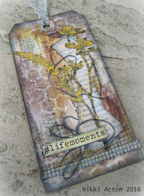 Tim Holtz Wildflower Tag