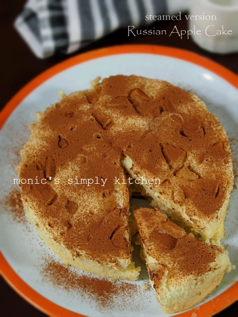 russian apple cake versi kukus