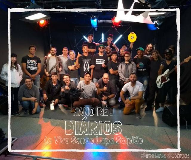 """Gravado na Unidade do Senac na Lapa, em São Paulo, Mano Réu amplia sonoridades do seu mais recente CD """"Diários""""."""