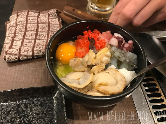 Okonomiyaki ingredients in a bowl