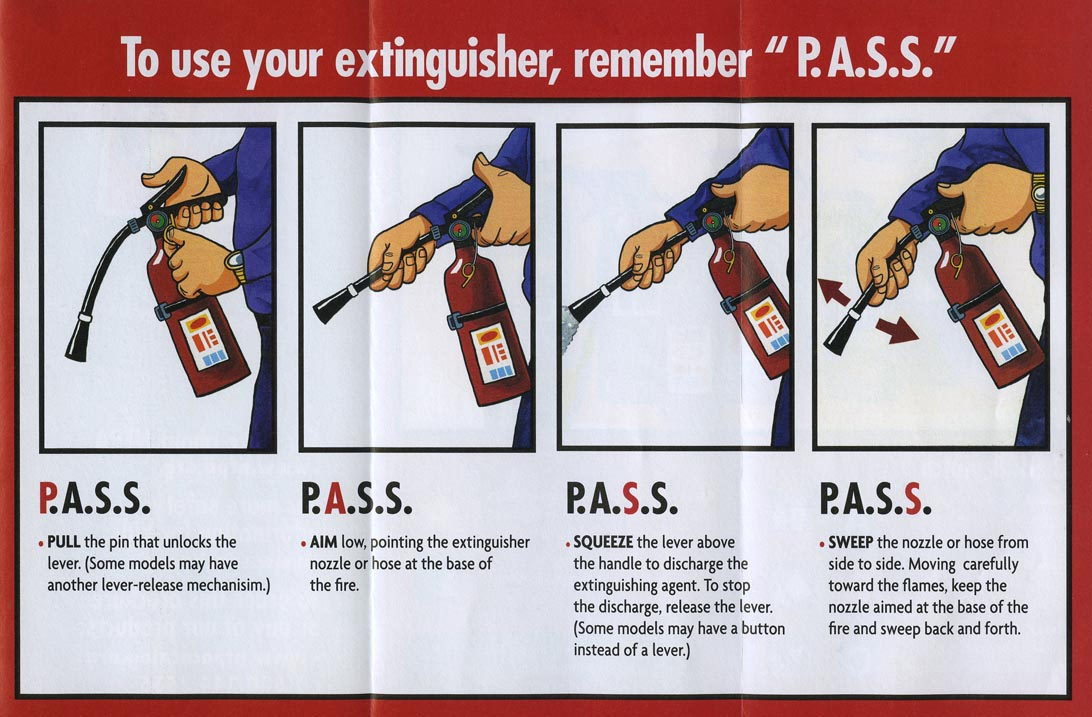 your house in order  fire extinguishers and your