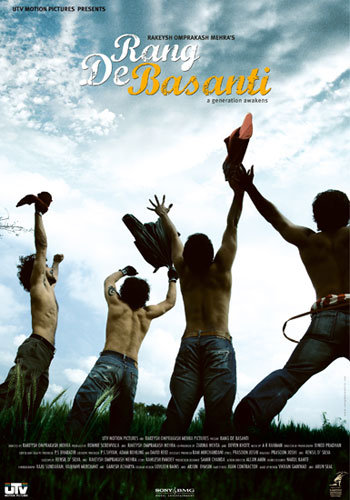 Poster of Rang De Basanti 2006 720p Hindi BRRip Full Movie Download