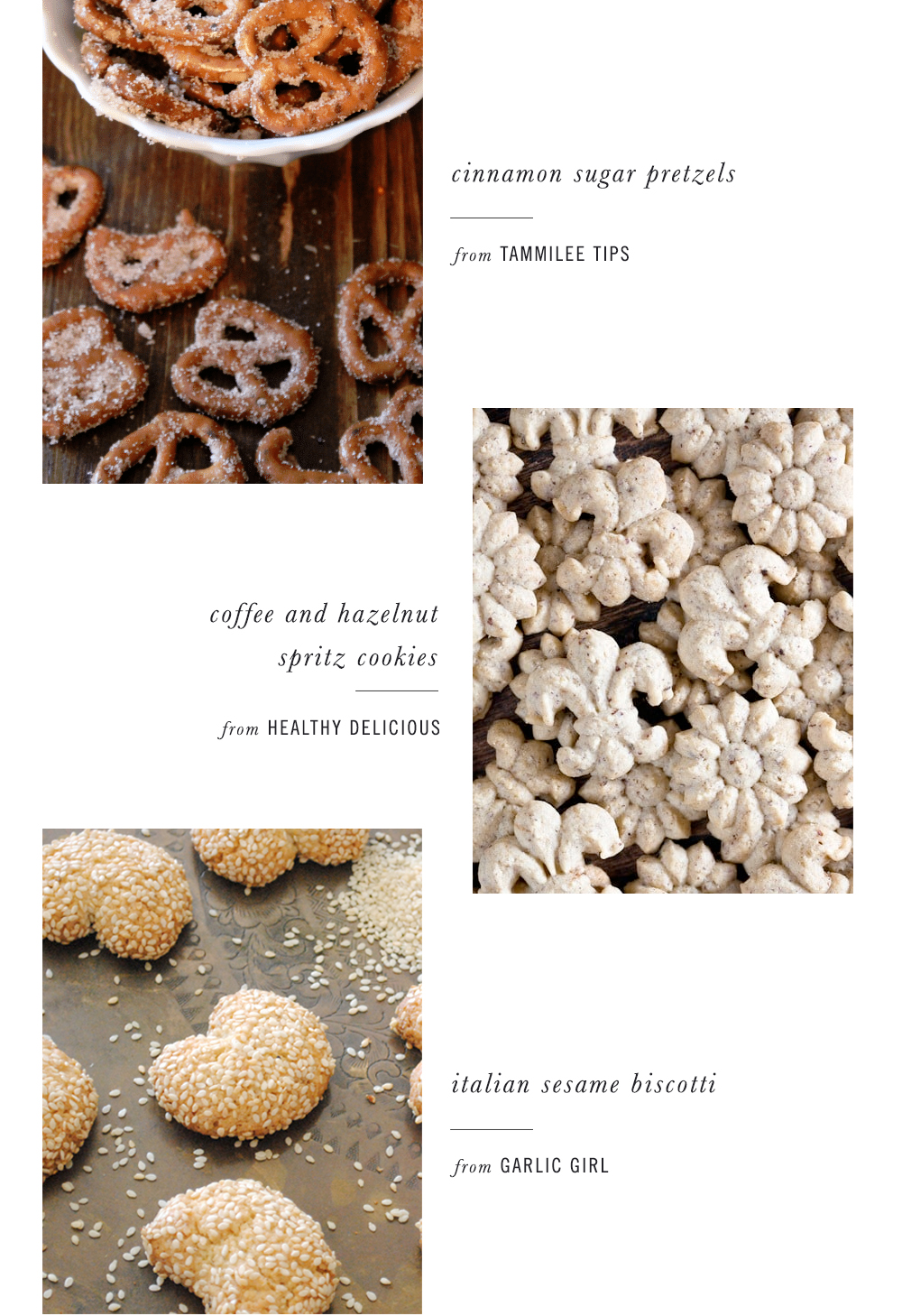merry & sweet - holiday cookie & treat recipe roundup