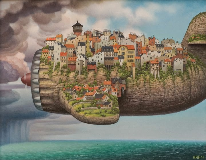 10-Low-cost-air-lines-Jacek-Yerka-Surreal-Paintings-Parallel-Universes-www-designstack-co