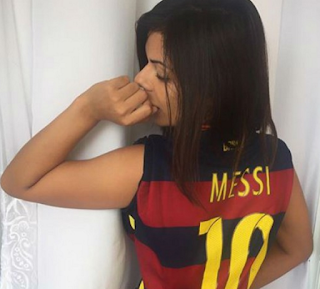 gambar Cewe Sexy ini penggemar berat Messi