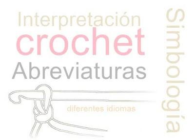 Abreviaturas Crochet en Ingles traducidas al Castellano