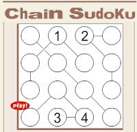 Conceptis Puzzles-Online Chain Sudoku
