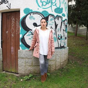 Parka rosa