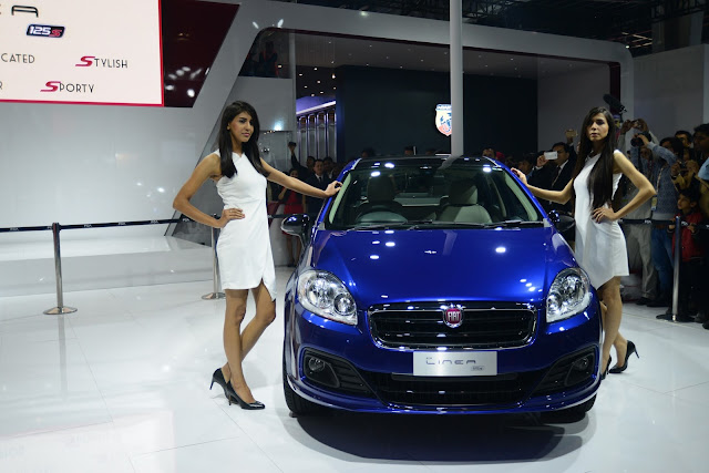Fiat Linea 125s at Auto Expo 2016 New Delhi