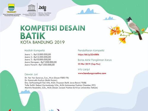 Kompetisi Desain Batik Kota Bandung 2019