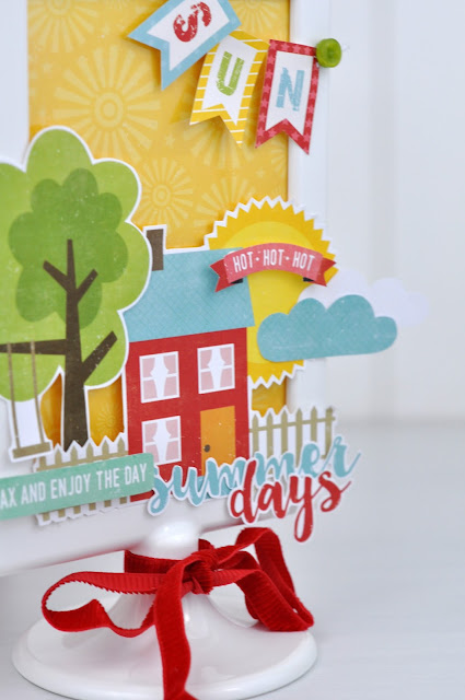 Summer Altered TOLSBY Ikea Frame by Jen Gallacher from www.jengallacher.com. #ikeaframe #papercraft
