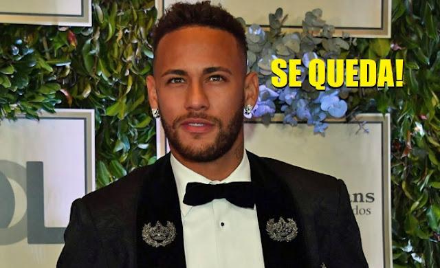 Neymar afirma que se queda en París. Fin de la novela