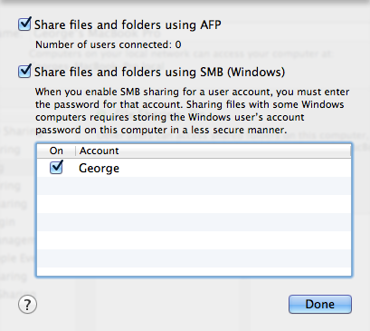 how to share folder from mac to pc