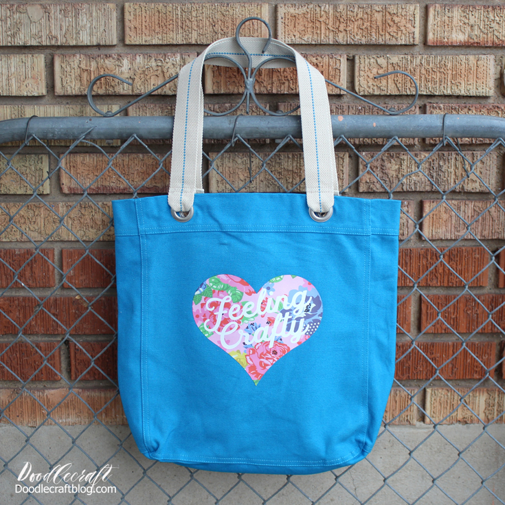 craft a tote bag in less than 5 minutes.