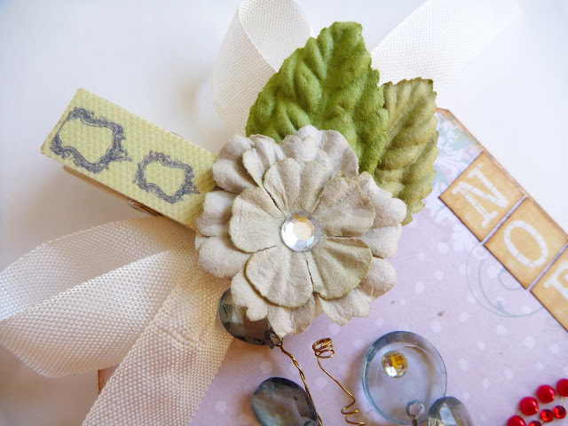Prima North Country Tag with Festive Floral and Bead Embellishments