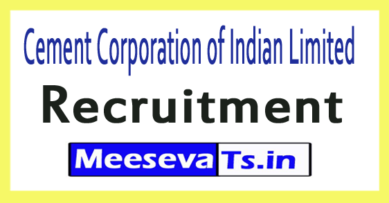 Cement Corporation of Indian Limited CCI Recruitment