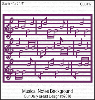 Custom Die: Musical Notes Background