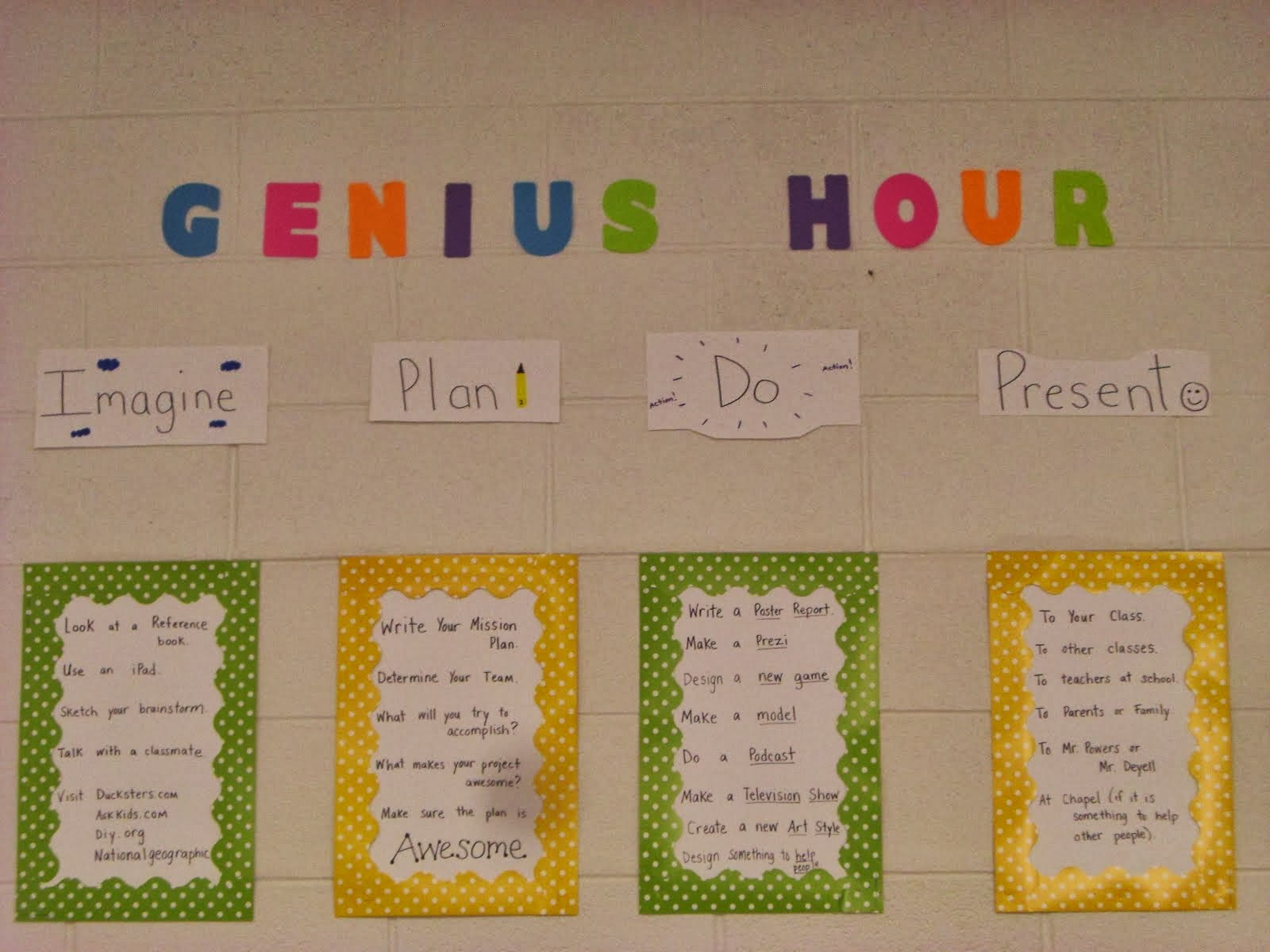 Notes From Second Grade Genius Hour