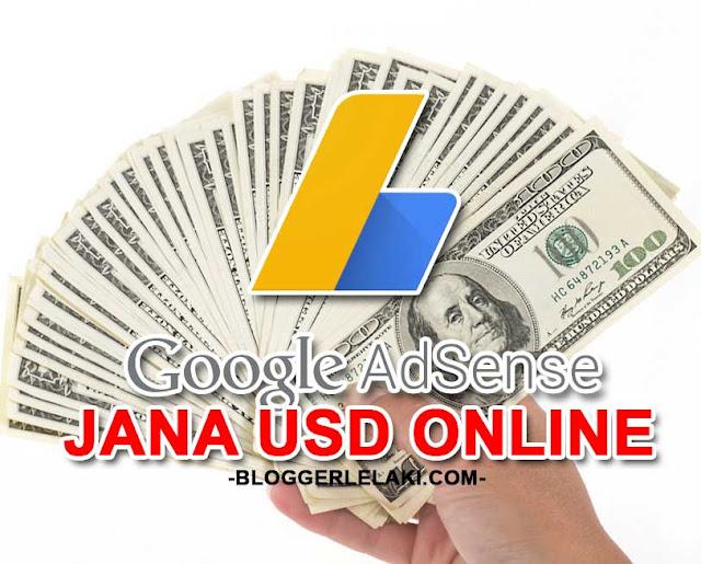 Panduan Adsense Jana USD Secara Online