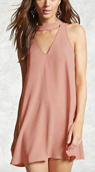 Forever 21 V-Cutout Swing Dress