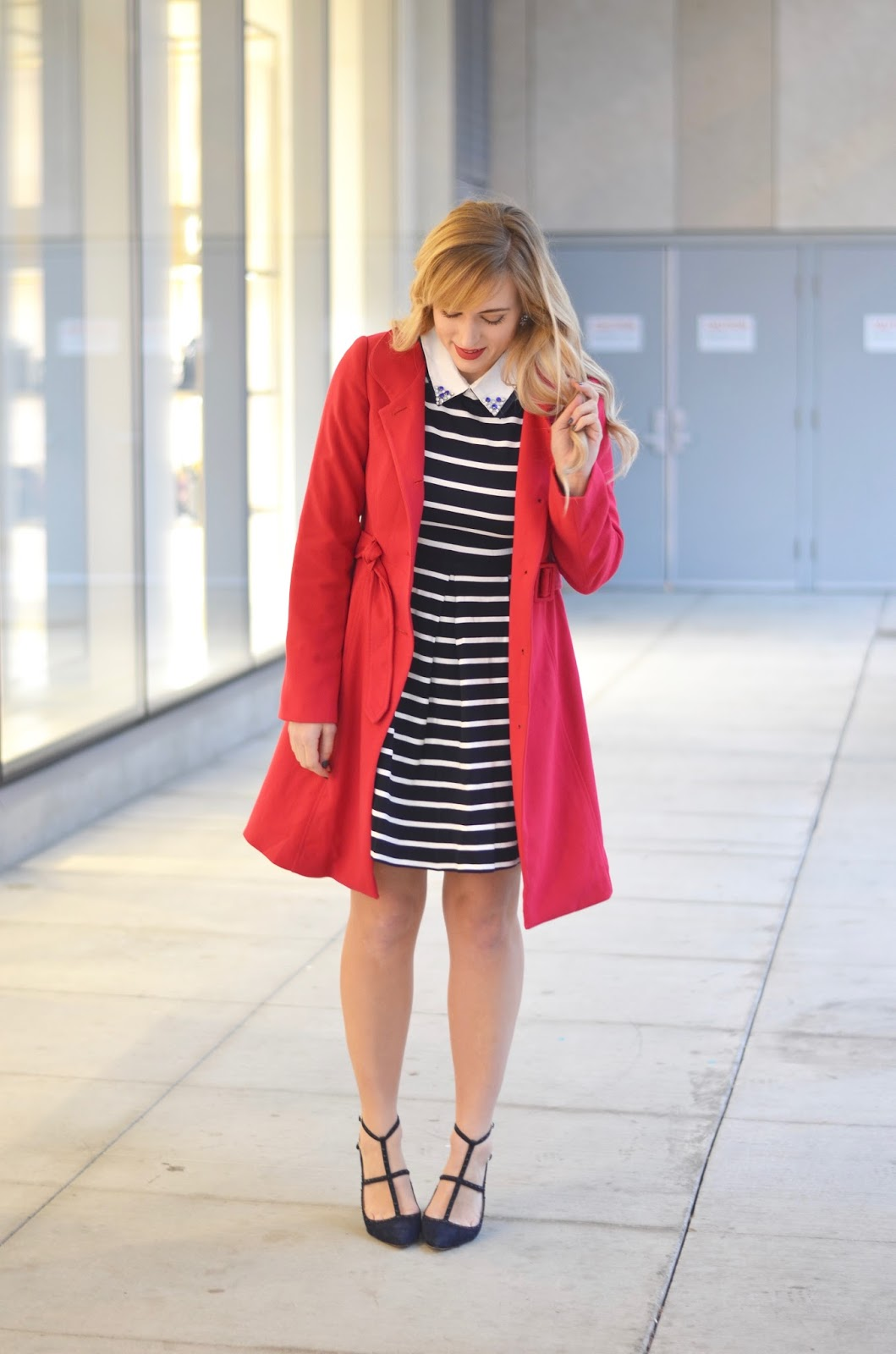 how-to-style-a-striped-dress