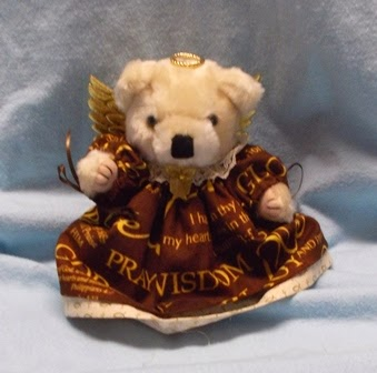 Inspirational Teddy Bear Angel Gift