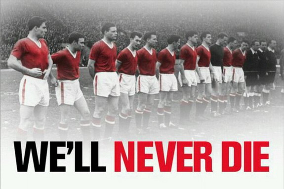 'We'll Never Die' banner tribute to Munich victims