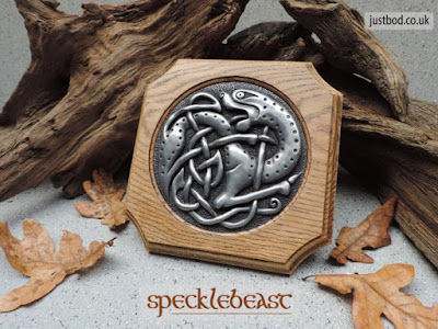 Specklebeast celtic art wall plaque from Justbod